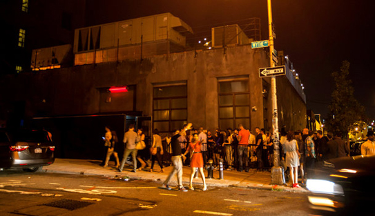 Nightclub Line in Williamsburg